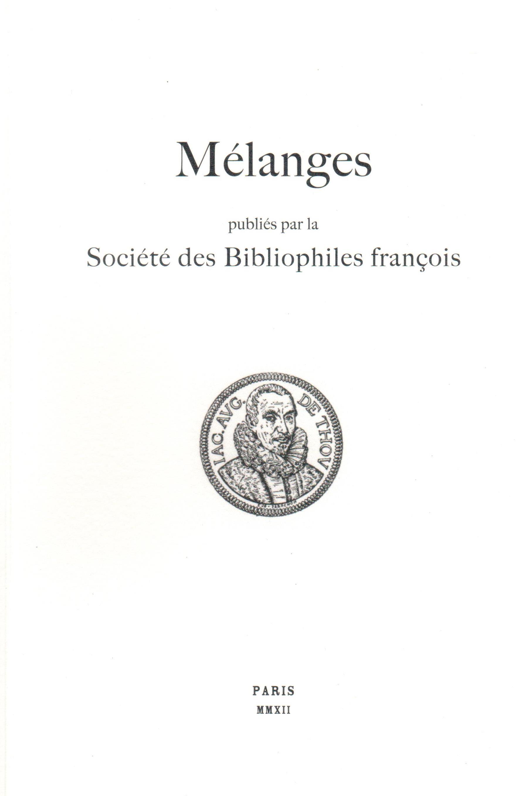 Société des Bibliophiles François